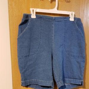 JMS elastic waist denim shorts 16w